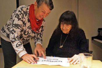 Linde Waber und Friederike Mayroecker