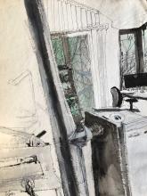 Wolfgang Bledl – Österreich, Atelierzeichnung 2