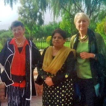 Mit Kishwar Naheed und Brigitta Blaha in Pakistan