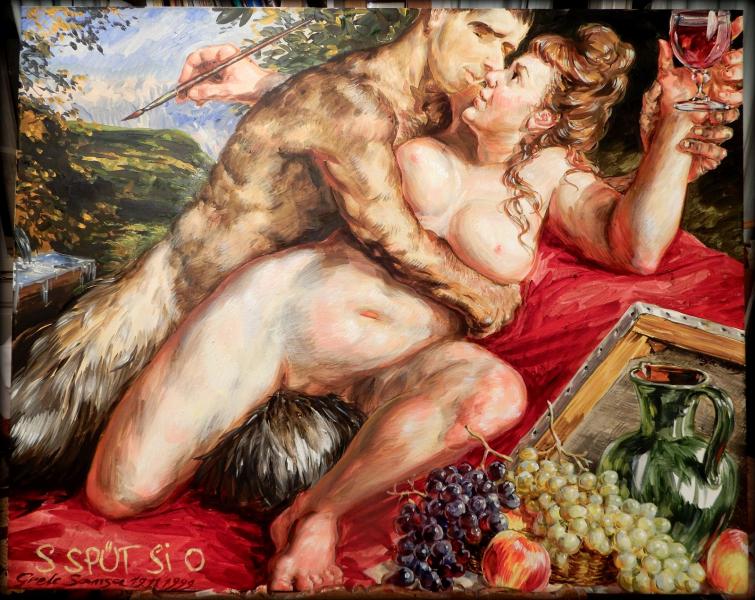 Faun_Malerei-zu_ZECK_Dionysos_2020