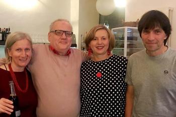 Irmi Egger, Alois Kinast, Uschi Schreiber und Wolfgang Bledl